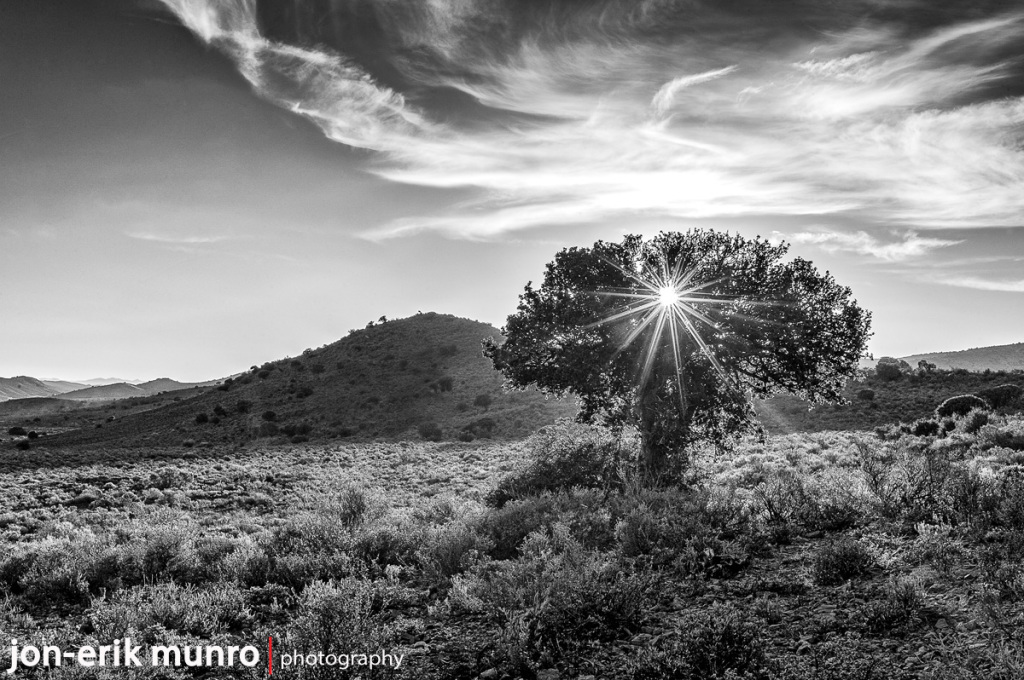 Touwsberg sunset in black and white | Edition of 20